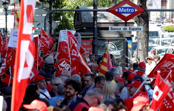 Fotografía pensionistas Banco de España