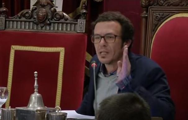 El alcalde de Cádiz, José María González 'Kichi', en el pleno del pasado viernes.