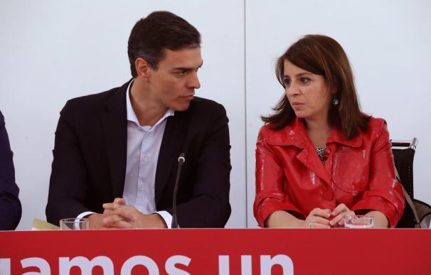 Pedro Sánchez, durante la Ejecutiva federal del partido./ EFE