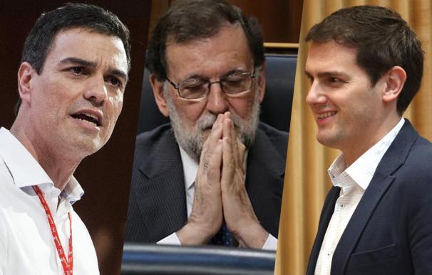 Rajoy, Rivera, Sánchez