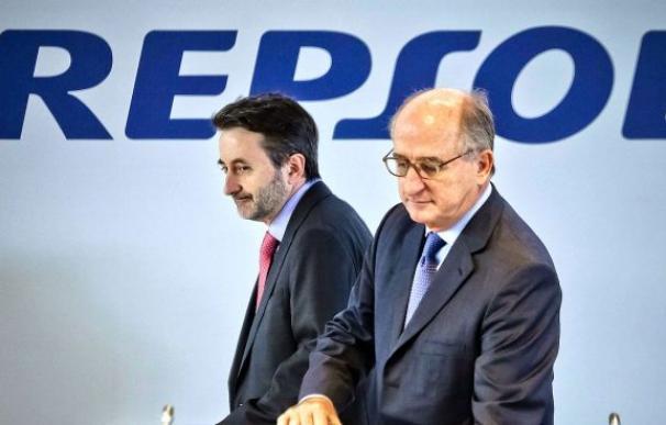 Josu Jon Imaz y Antonio Brufau, CEO y presidente de Repsol respectivamente.
