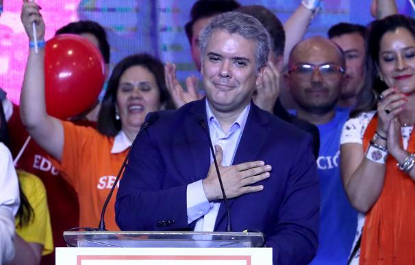El candidato del partido uribista Centro Democrático, Iván Duque