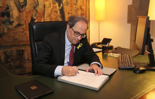 Quim Torra firma el nuevo decreto de nombramiento de los consellers