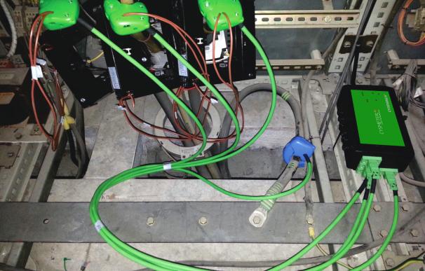 Montajes realizados sin cortes sobre los consumos eléctricos de las cargas monitorizadas (Foto: Cysnergy)