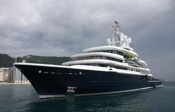 El yate, atracado en Gibraltar / LiveYachting