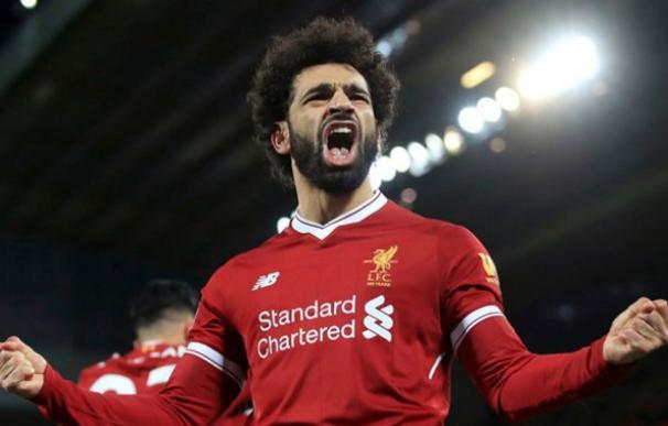 Mohamed Salah mantiene su idilio con el gol en la Premier League. (Foto: EFE)