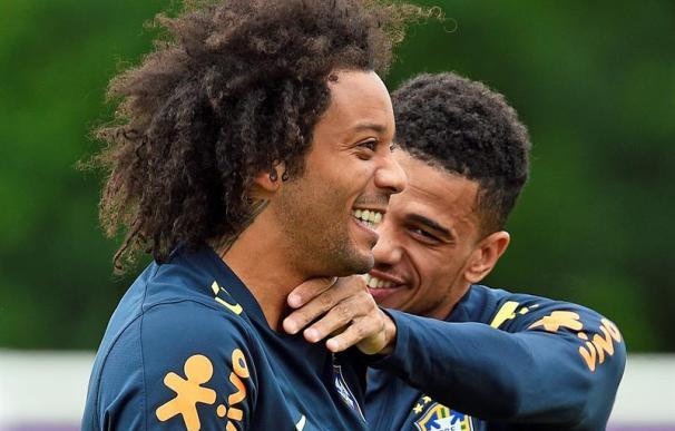 Fotografía de Marcelo con la selección de Brasil.