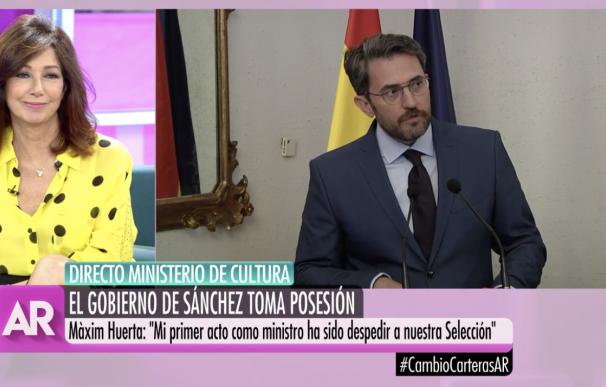 Ana Rosa Quintana toma de posesión Màxim Huerta