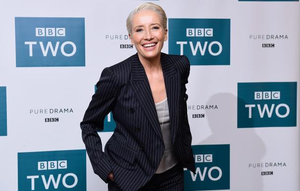 Emma Thompson asiste a la emisión del Rey Lear en el Soho Hotel de Londres, London. (Cordon Press)