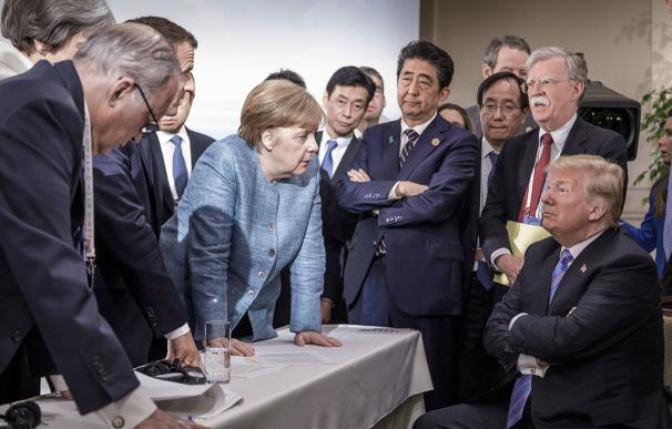 Trump, rodeado por todo el G7