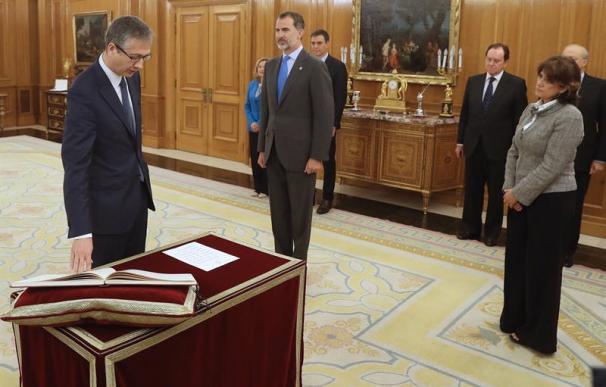 Pablo Hernández de Cos jurando el cargo