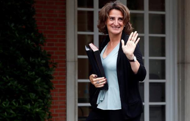 La ministra de Transición Ecológica, Teresa Ribera, a su llegada al Palacio de la Moncloa
