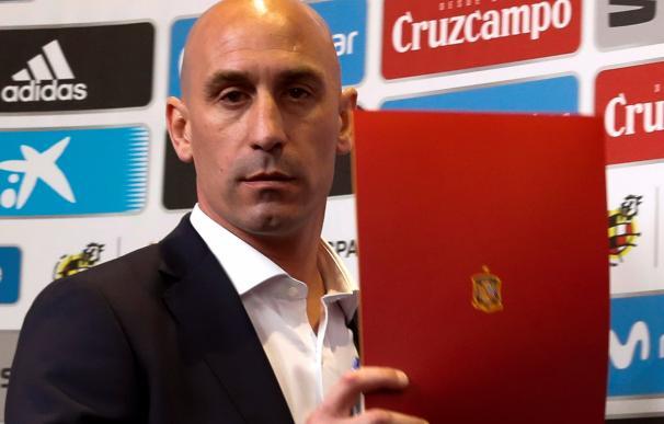Luis Rubiales, durante la rueda de prensa. /EFE