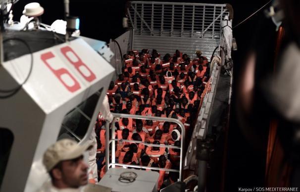 El Aquarius lleva a bordo a 123 menores no acompañados (SOS MEDITERRANEE/Karpov)