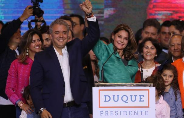 El presidente electo de Colombia, el uribista Iván Duque