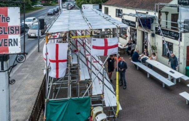 Fotografía de la grada de 'The English Tavern'.