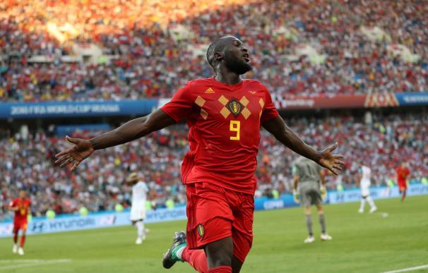 Lukaku celebra uno de los dos goles ante Panamá. /EFE