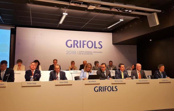Fotografía de la junta de accionistas de Grifols celebrada este viernes