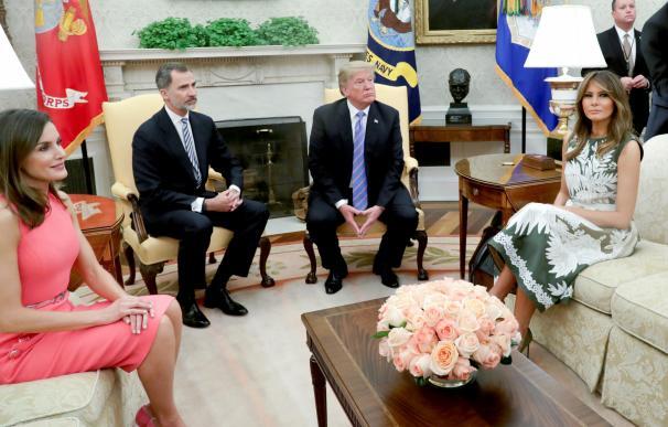 Los Reyes de España en la Casa Blanca