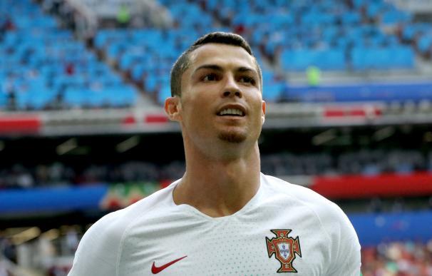 Ronaldo en un instante del encuentro ante Marruecos. /EFE