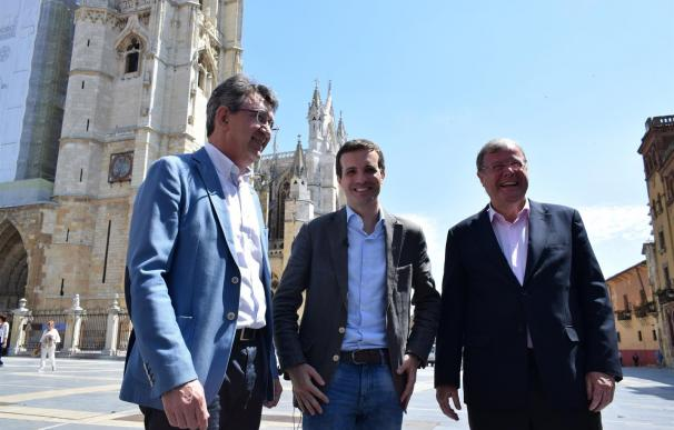 Casado durante su visita a León. /EUROPA PRESS