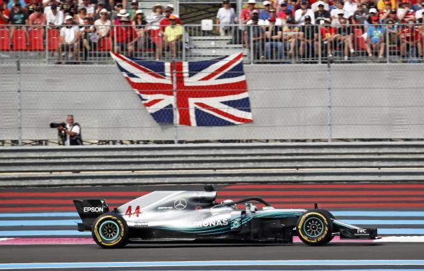 El piloto británico Lewis Hamilton durante el Gran Premio de Francia en el circuito Paul Ricard de Le Castellet, Francia (EFE / EPA / YOAN VALAT)