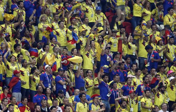 La afición de Colombia disfrutó con su equipo