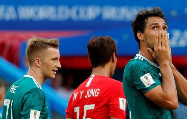 Hummels se lamenta de una ocasión durante el encuentro ante Corea del Sur. /EFE