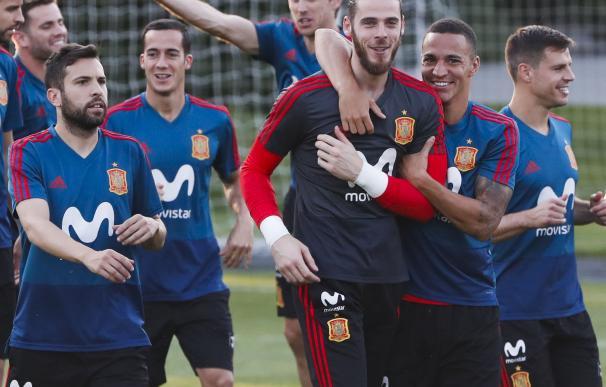 España prepara el partido ante Rusia