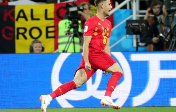 Januzaj celebra el gol de la victoria ante Inglaterra. /EFE