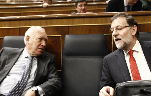Margallo y Rajoy en el Congreso.