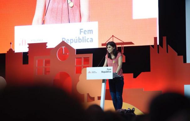 Marta Vilalta en uno de los actos de ERC