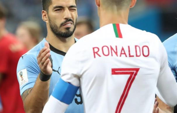 Suárez consuela a Cristiano