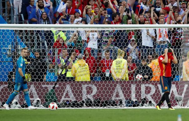 Penalti de Koke ante Rusia