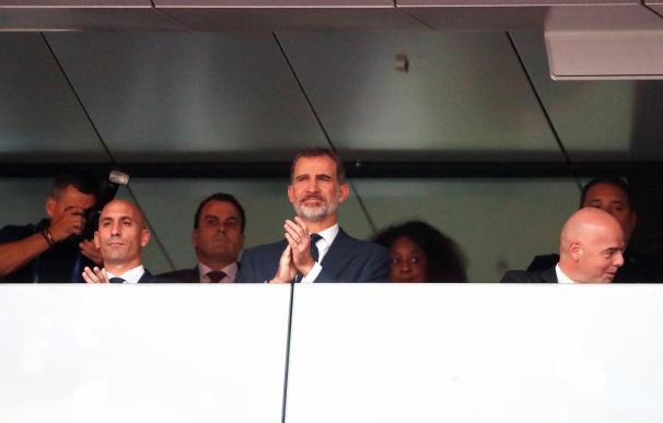 Rubiales vio perder a España junto al Rey