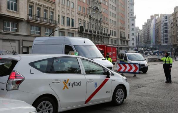 Fotografía de un taxi asociado a 'MyTaxi'