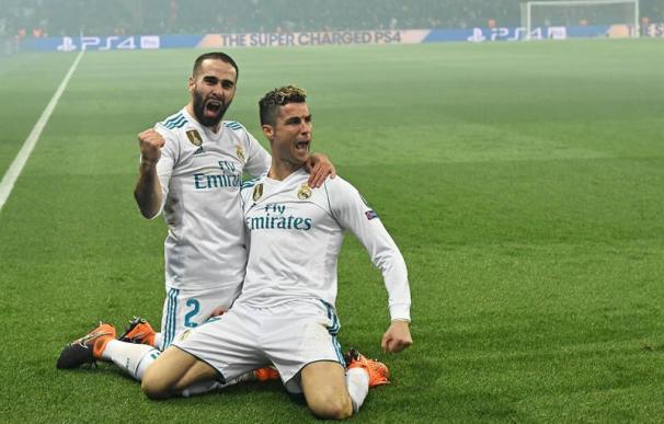 Cristiano Ronaldo celebra un gol ante el Paris Saint-Germain