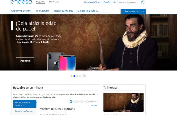 Página web de Endesa