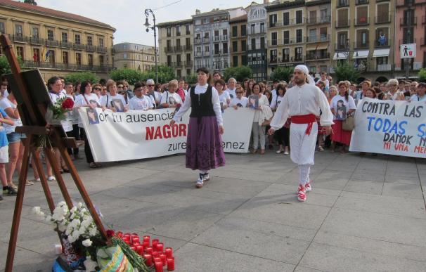 Concentración en recuerdo de Nagore Laffage, asesinada en los Sanfermines de 2008