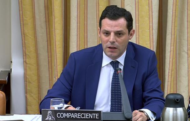 Captura de vídeo de Ignacio Pardo en el Congreso de los Diputados
