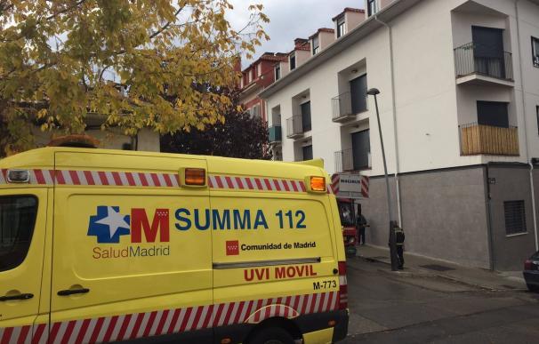 Una ambulancia del SUMMA 112 en otra intervención