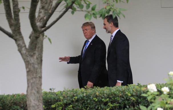 El Rey de España con Donald Trump en la Casa Blanca