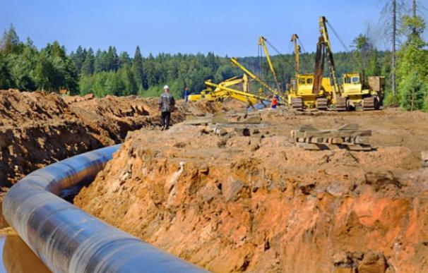 Obras de instalación de un gasoducto.