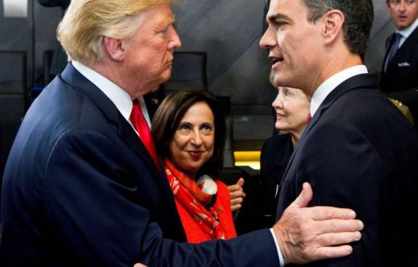 Pedro Sánchez y Trump