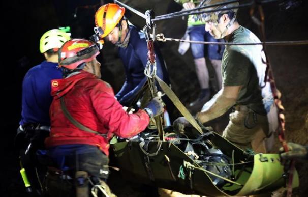 Fotografía del proceso de rescate de los niños de Tailandia.
