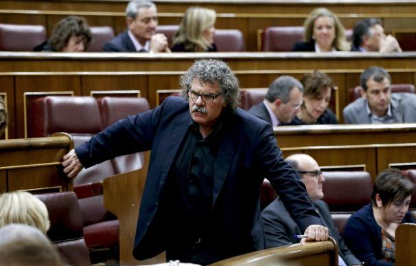 Joan Tardà expica que ellos van con hondas y el enemigo va con tanques