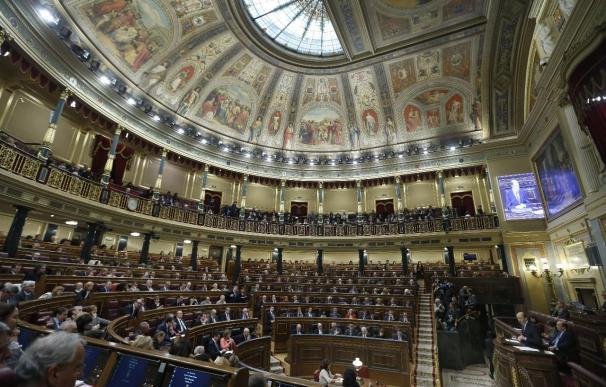 Vista general de hemiciclo de Congreso de los Diputados.
