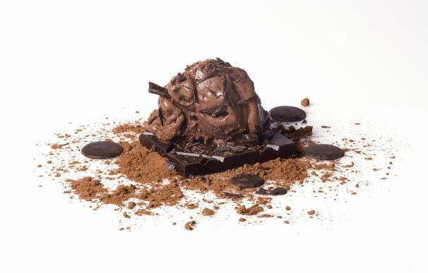 Helado de chocolate que puedes degustar en Flower Experience.