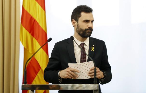 Roger Torrent, presidente del Parlamento catalán.