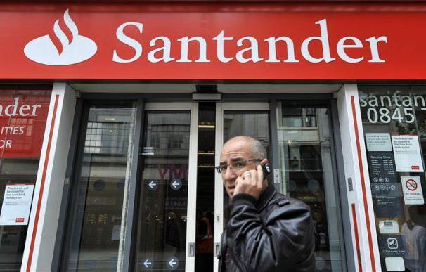 Una sucursal del banco Santander en Londres, Reino Unido. EFE/Archivo